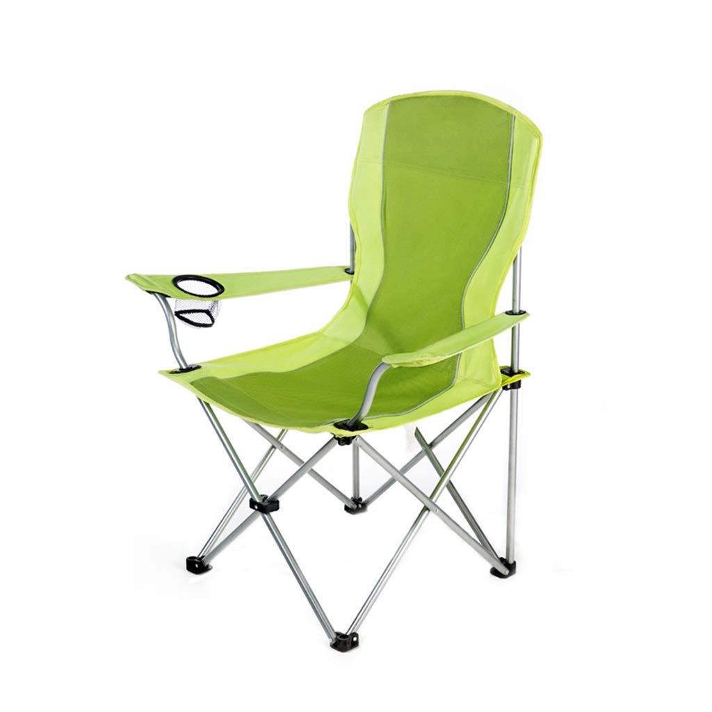 CGF-Mecedora Silla de Camping Plegable Silla Plegable Que acampa Plegable Plegable fácil de la Pesca de la Playa, Teniendo 100kg, Verde