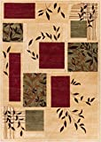 Well Woven Great Forest Ivory Floral Nature Modern Formal Area Rug 3x5 4x6 (3'11'' x 5'3'') Easy to Clean Stain Fade Resistant Shed Free Traditional Transitional Soft Living Dining Room Rug