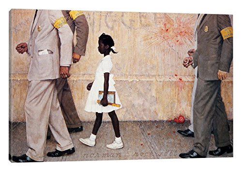iCanvasART The The Problem We All Live with with ((Ruby Bridges) Canvas Print, 18