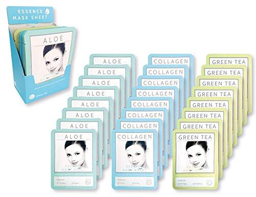 E5 Sheet Mask - Blue Set (Aloe, Collagen, Green Tee)
