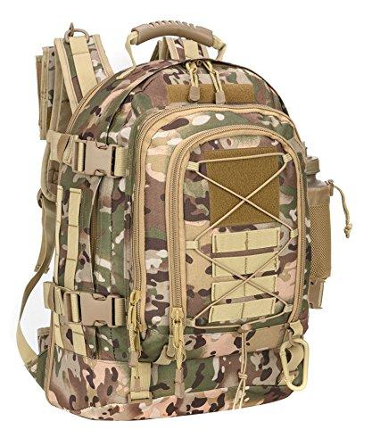 Pans Military TravelバックパックタクティカルアウトドアデイパックMOLLE用バッグハイキング、キャンプ、  OCP B07D274DNY