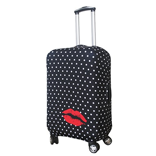 Explore Land Travel Luggage Cover Suitcase Protector Fits 18-32 Inch Luggage (Polkadot, M(23-26 inch luggage))