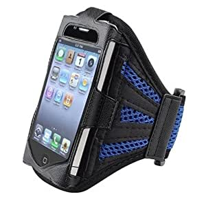 Outstanding Value Malla Azul marino Correr cubierta de la caja del brazal de Apple Iphone 4s / 4