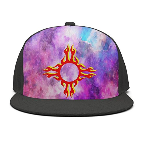 Zia Pueblo Pottery - Unisex Fitted caps zia Pueblo Symbol fire Mens Baseball Cap