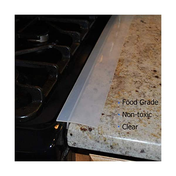 Silicone Gap Cover, (2 Pack) Silicone Gap Stopper Kitchen Stove Counter Gap Covers - 21inches Flexible Stove Space… 5