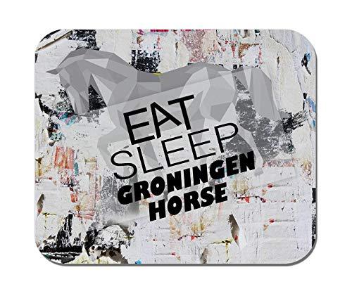 (VANKINE,EAT Sleep Groningen Horse Horse Horses,Non-Slip Rubber Mousepad, Gaming Office)