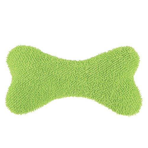 Grriggles Moppy Fabric Bones Chew Dog Toy, 12-Inch, Green, My Pet Supplies