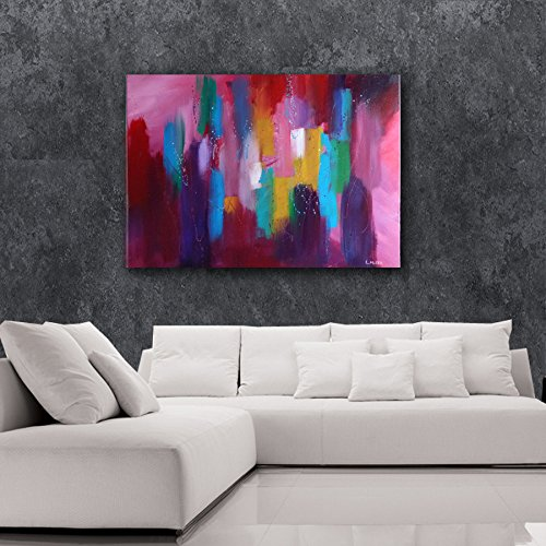 Original 24x30 Acrylic Abstract Christian Painting ''In His Fathers House'' by Linda Miller
