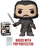 Funko Pop! Game of Thrones: GOT - Jon Snow Beyond the Wall Vinyl Figure (Bundled with Pop Box Protector Case)