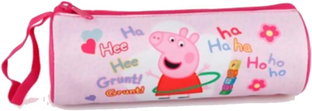 Estuche cilíndrico rosa Peppa Pig: Amazon.es: Oficina y papelería