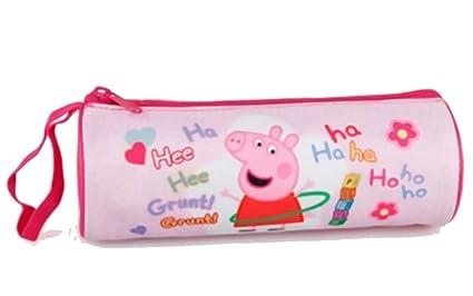 Estuche cilíndrico rosa Peppa Pig: Amazon.es: Oficina y ...