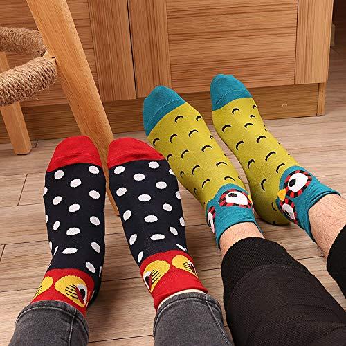 00f4d8e509 Calze da donna Colorati Cotone Calze Morbido Sudare-assorbenti Gufo Modello  Unisex Calzini 5 Paia: Amazon.it: Abbigliamento