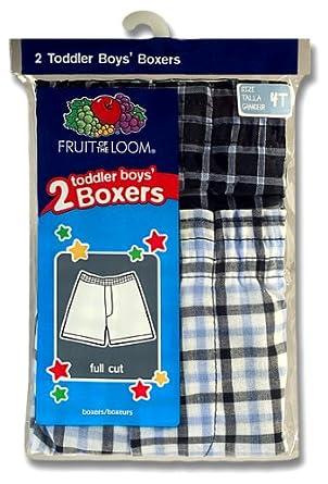Fruit of the Loom Little Boys' Woven Boxer Tartan Plaids 2T/3T(Pack of 2) 2P530T-Tartan Plaids-2T/3T
