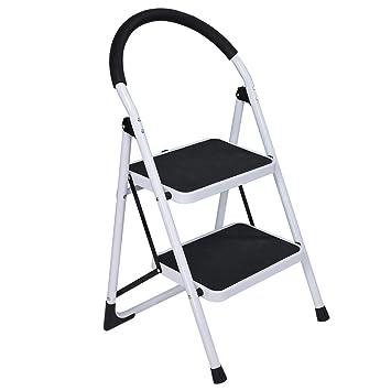 Wondrous Amazon Com Cuekondy 2019 New 2 Step Folding Step Stool Ibusinesslaw Wood Chair Design Ideas Ibusinesslaworg