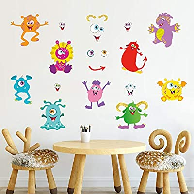 Amazon.com: decalmile Cute Monsters Wall Decals Kids Wall ...