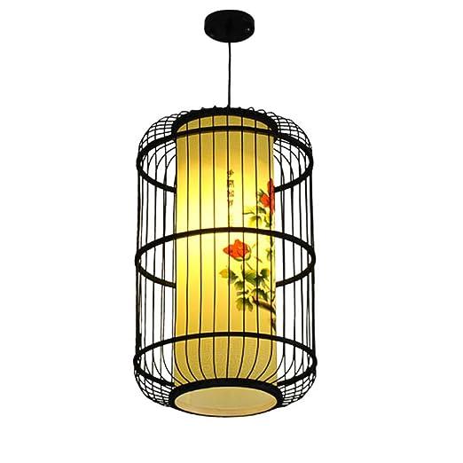 Y.T Araña Antigua China Patio Jaula de pájaros Accesorio de bambú ...
