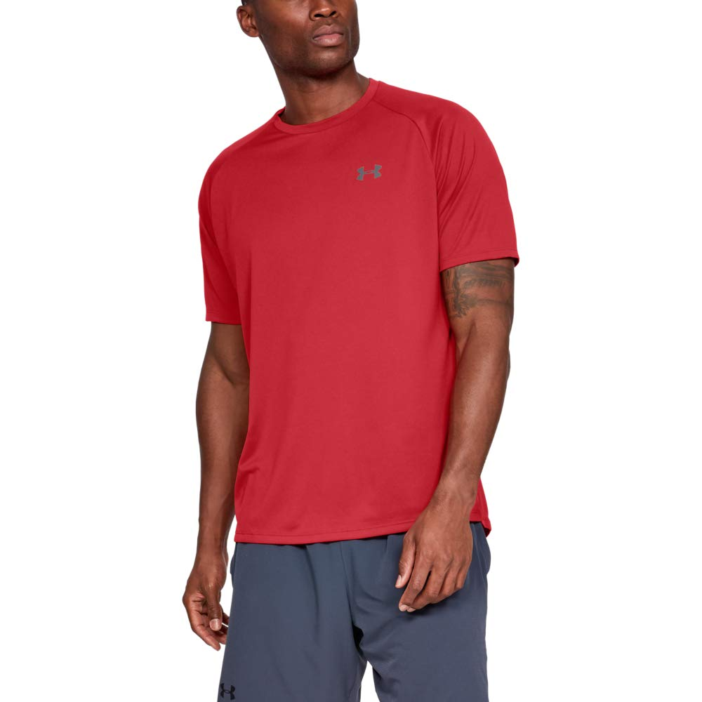 Under Armour mens Tech 2.0 Short Sleeve T-Shirt, Red (600)/Graphite, X-Large by Under Armour