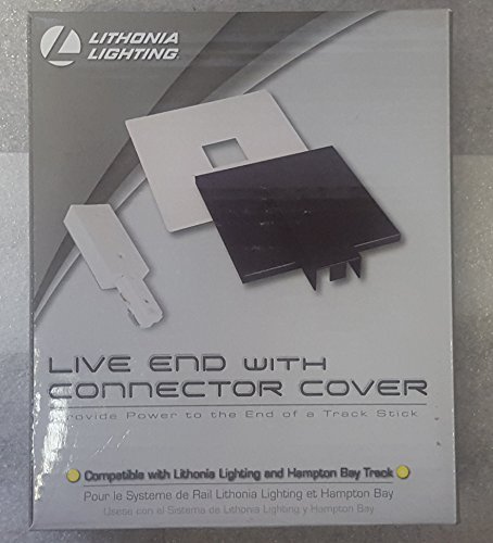 Lithonia Lighting Live End White Connector Track Lighting Kit with (Lighting Live End Connector)