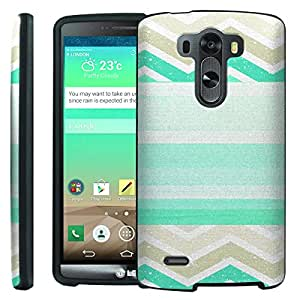 [ManiaGear] Design Graphic Image Shell Cover Hard Case (Chevron Stripe Teal) for LG G3