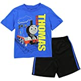Thomas and Friends Little Boys' Toddler Mesh Shorts Set, Blue (2T)