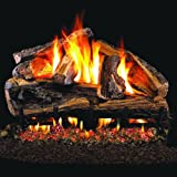 Peterson Real Fyre 30-inch Rugged Split Oak Outdoor Gas Log Set With Vented Natural Gas Stainless G45 Burner