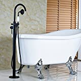 Rozin Floor Mounted Standing Bathtub Faucet Mixer Tap with Handheld Shower Oil Rubbed Bronze