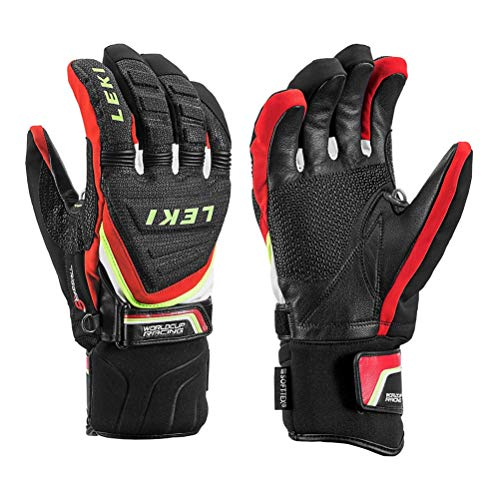 Used, LEKI Race Coach C-Tech S Ski Racing Gloves - Large/Black-Red-White-Yellow for sale  Delivered anywhere in USA
