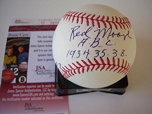 Moore Autographed Baseball - James Red Atlanta Black Crackers newark Eagles Jsa - Autographed Baseballs