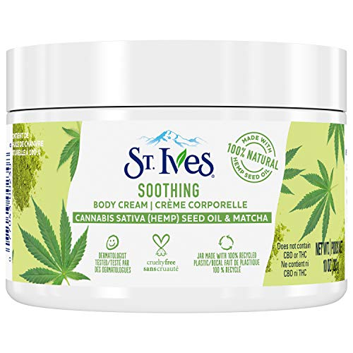 St. Ives Hand & Body Cream Moisturizer for Dry Skin Cannabis Sativa(Hemp) Seed Oil & Matcha Made w/ 100% Natural…