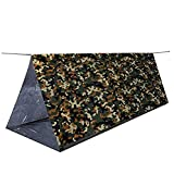 SEALEN Lightweight Backpacking Bivy Tent,Waterproof Digital WoodlandCamouflage Survival Tent, First Aid Outdoor Survival Kits for Camping Hiking Travel