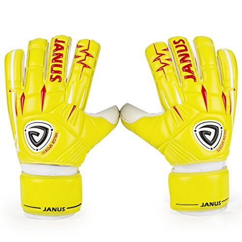 Valorports Professional Soccer Goalie Gloves, 4 Sizes (7-10) for Youth, Teenage and Adult Goalkeeper, Removable Fingersave Protection System, Super Sticky Palms with 4mm Germany Latex Gloves JA939