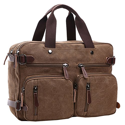 Berchirly Unisex's Canvas Duffel Bags Large Doctor Office Bag School Backpacks by Berchirly
