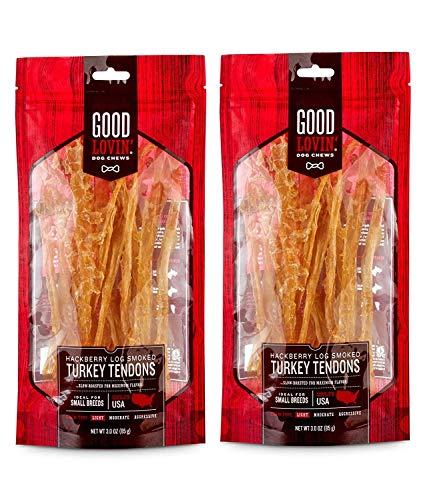 Good Lovin' Hackberry Log Smoked Turkey Tendon Dog Chew (6 oz)