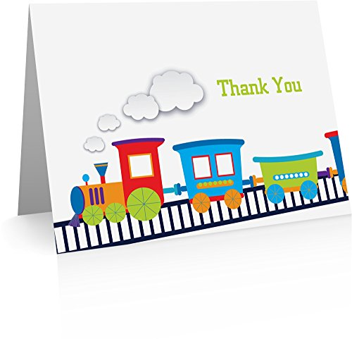 - Choo Choo Train Thank You Cards with Envelopes - Thank You Cards for Kids