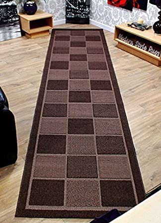 rug on carpet in hallway. Unique Hallway Extra Long And Wide Modern Check Pattern Contemporary Chocolate  Brown Hallway And Rug On Carpet In