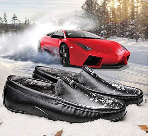 Fainéants En Velours Slip Casual Chaud Hommes Chaussures Pour Cuir Automne Garder Et ons Plus a 44 Doux Hiver C x7Hxg8I