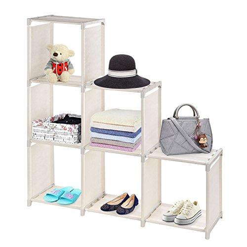 MaidMAX 3 Tiers 6 Cubes Shelf Organizer, DIY Closet Storage System, Beige by MaidMAX