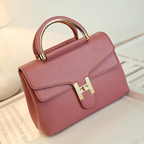 Nero bag in Colore Borsa modello Lotus donna Moontang Borsa tracolla Borsa platino Purple Litchi Dimensione Messenger nFa7Pvxq