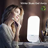 Light Therapy Lamp, Miroco LED Bright White Therapy Light - UV Free 10000 Lux, 6 Brightness Levels, Timer Function, Touch Control, Standing Bracket, Memory Function for a Happy Life