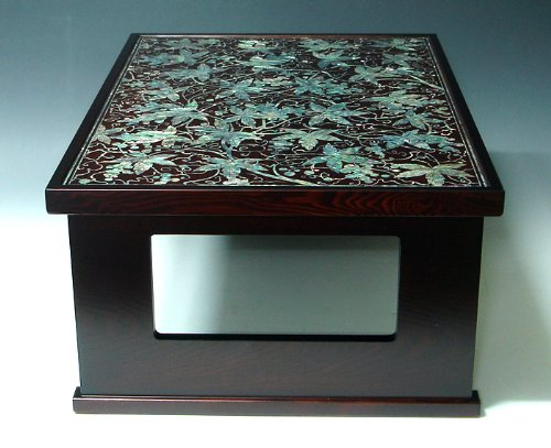 Mother Of Pearl Inlay Art Lacquer Finish Grape Vine Design