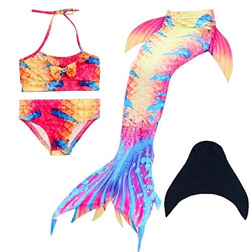 da nuotare bagno Dh07 monopinna sirena SAIANKE per scintillante coda con di wxqPWTXv0Y