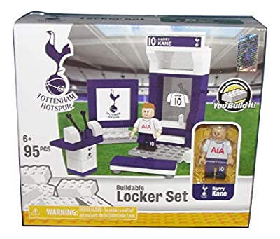 The Bridge Direct Tottenham Hotspur HARRY KANE Buildable Brick Soccer Locker Set 95 Pieces