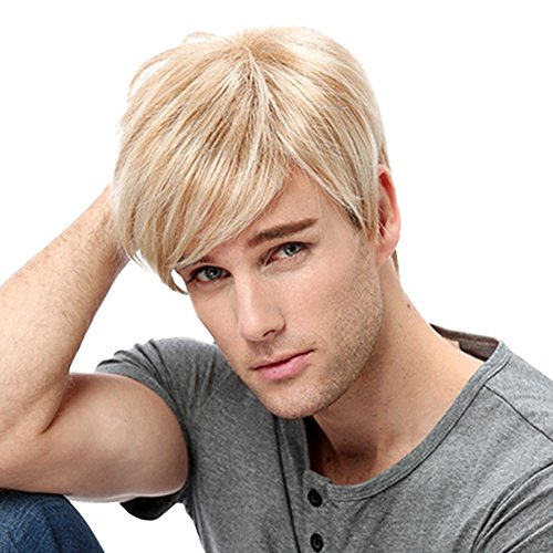 Tiny Lana New Fashion Handsome Short Straight Men's Boy's Side Bangs Synthetic Full Wigs For Cosplay Costume Party + Free Wig - Wigs Tiny