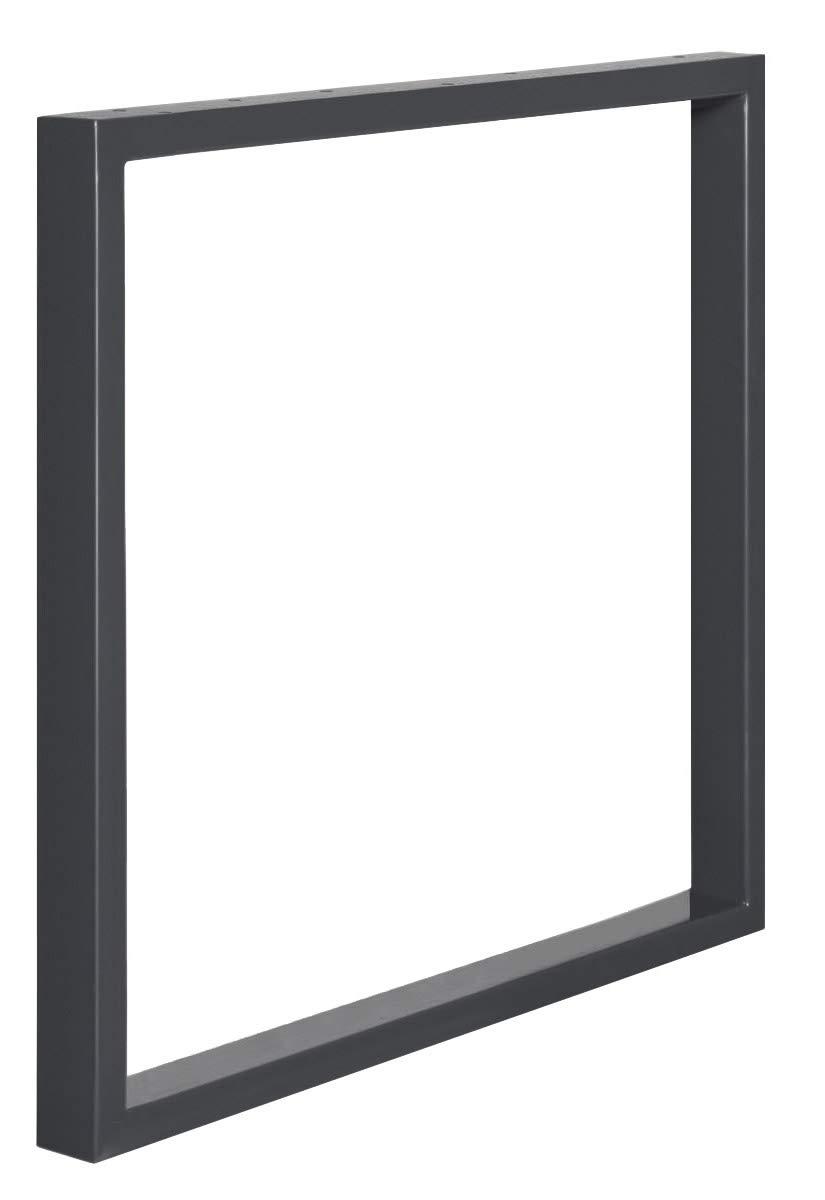HLT-01-D-FF-7016 HOLZBRINK 1x Pied de Table en Profil/és dAcier 60x30 mm Cadre 80x72 cm Gris Anthracite