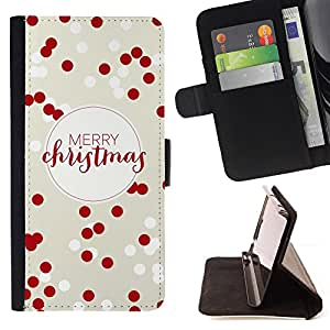 Jordan Colourful Shop - merry Christmas red white winter xmas For Sony Xperia M2 - Leather Case Absorci???¡¯???€????€????????&c