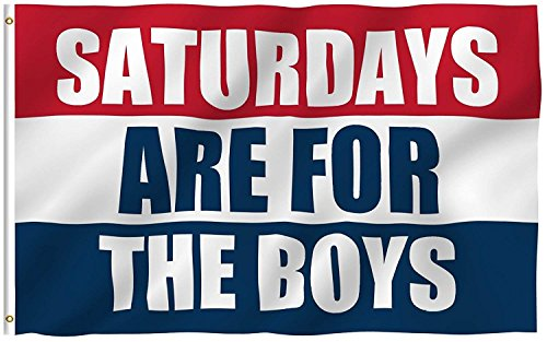 Saturdays are for The Boys Flag Printed Polyester 5x3ft