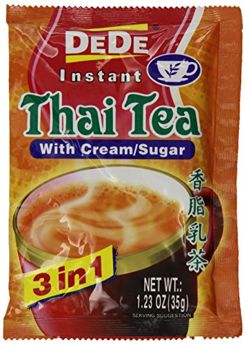 De De Instant Thai tea with Cream and Sugar, 1.23oz x 12pks