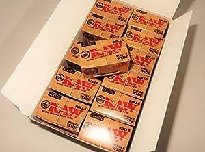 Papel de liar Raw Classic Single Wide 5metros, rollos sin refinar –24rollos con Mont Cherry, marcapáginas 3D por Trendz