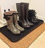 "Ottomanson Multi-Purpose Indoor & Outdoor Waterproof Tray, 30"" X 15"", Black"