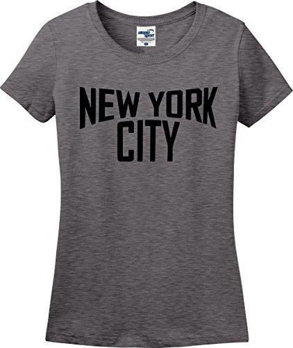 New York City John Lennon Ladies T-Shirt (S-3X) (Ladies Small, Graphite Heather)